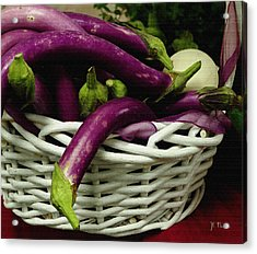 Chinese Egg Plant Acrylic Print by James C Thomas