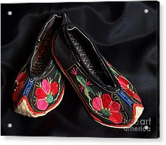 Chinese Embroidered Baby Shoes Acrylic Print
