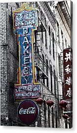 Chinese Food And Coca Cola Acrylic Print by Larry Butterworth