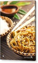 Chinese Food Acrylic Print by Mythja  Photography