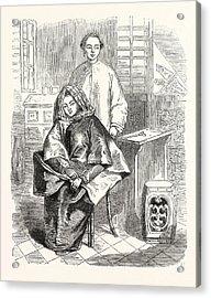Chinese Girls. Sketched At Hong Kong Acrylic Print by English School