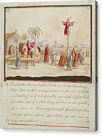 Chinese Jugglers Tricks Acrylic Print by British Library