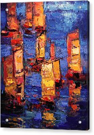 Chinese Junks Acrylic Print by R W Goetting