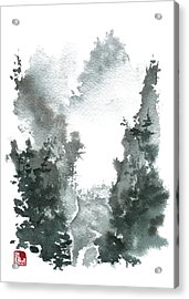 Chinese Landscape -mistyvalley Acrylic Print by Sean Seal