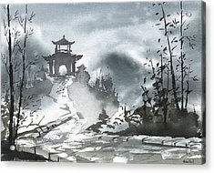 Chinese Landscape Acrylic Print by Sean Seal