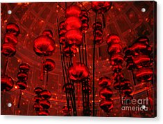 Acrylic Print featuring the photograph Chinese Lanterns by Julie Lueders