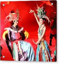 Chinese Opera Acrylic Print by  Jose Carlos Fernandes De Andrade