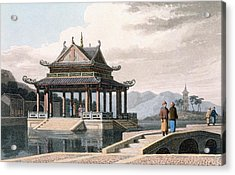 Chinese Pavilion, 1810 Acrylic Print by Thomas & William Daniell