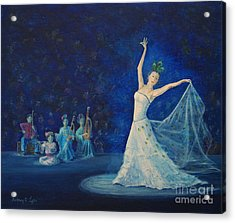 Chinese Peacock Dance-1 Acrylic Print