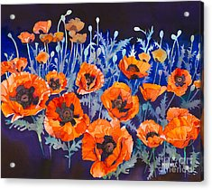 Poppies Pleasure And Pain Acrylic Print by Mike Hill
