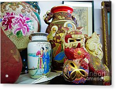 Chinese Pottery And Vases Acrylic Print by Amy Cicconi