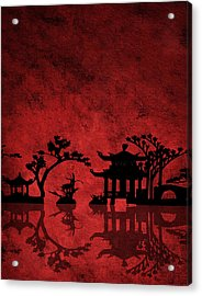 Chinese Red Acrylic Print by Bruce Rolff