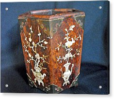 Chinese Scholar's Brush Container Acrylic Print by Anonymous