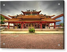 Chinese Temple Paved Square Acrylic Print by David Gn