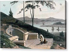 Chinese Tomb With Two Mourners Acrylic Print by Thomas & William Daniell