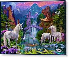Chinese Unicorns Acrylic Print by Jan Patrik Krasny