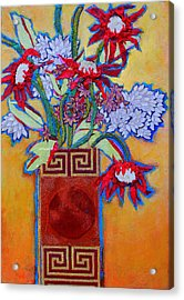 Chinese Vase Acrylic Print by Diane Fine