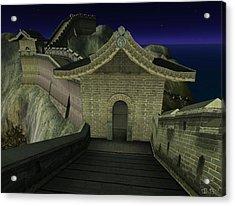 Acrylic Print featuring the digital art Chinese Wall by Susanne Baumann