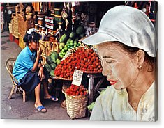 Chinese Woman With A Facial Mole IIi Acrylic Print by Jim Fitzpatrick