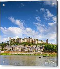 Chinon Loire Valley France Acrylic Print by Colin and Linda McKie