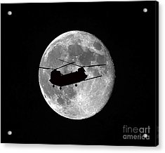 Chinook Moon B And W Acrylic Print