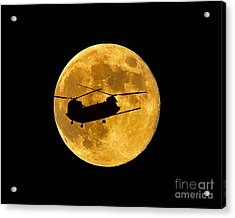 Chinook Moon Color Acrylic Print