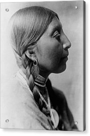 Chinookan Indian Woman Circa 1910 Acrylic Print