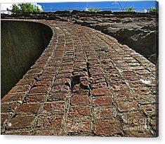Chipmunks View Of A Stone Bridge Acrylic Print