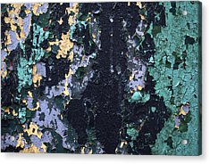 Chipped Paint Acrylic Print by Gretchen Lally