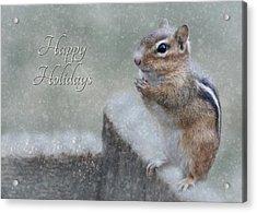 Chippy Christmas Card Acrylic Print by Lori Deiter