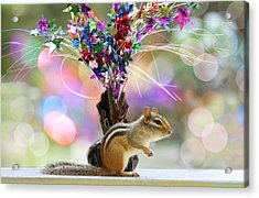 Chippy Party Time Acrylic Print by Peggy Collins