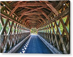 Chiselville Bridge Acrylic Print by Guy Whiteley