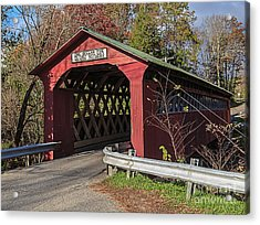 Chiselville Covered Bridge Acrylic Print