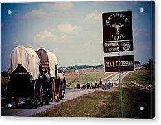 Chisholm Trail Centennial Cattle Drive Acrylic Print by Toni Hopper