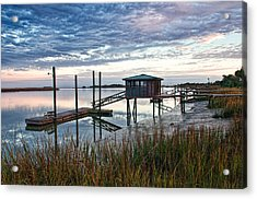 Chisolm Island Docks Acrylic Print