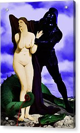 Acrylic Print featuring the digital art Chivalry by Sasha Keen