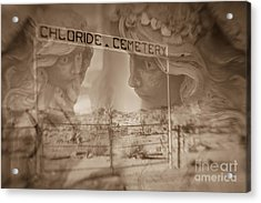 Chloride Cemetery Acrylic Print by Marianne Jensen