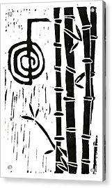 Cho Ku Rei And Bamboo Acrylic Print