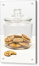 Chocolate Chip Cookies In Jar Acrylic Print by Elena Elisseeva