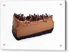 Chocolate Chocolate Cheesecake - Dessert - Baker - Kitchen Acrylic Print by Andee Design