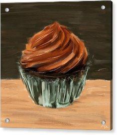 Chocolate Cupcake Acrylic Print by Lourry Legarde