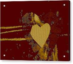 Chocolate-heart Acrylic Print by Dorothy Rafferty