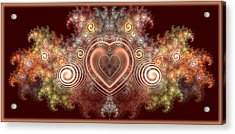 Chocolate Heart Acrylic Print by Svetlana Nikolova