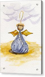 Chocolate Kissing Angel Acrylic Print by Julie Maas