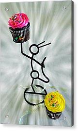 Chocolate Makes My Spirit Soar Acrylic Print by Kenny Francis