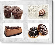 Choice Of Chocolate 4 X 4 Collage 1 - Bakery Sweets Shoppe Acrylic Print by Andee Design