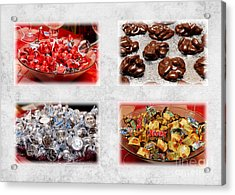 Choice Of Chocolate 4 X 4 Collage 2 - Sweets - Candy Shoppe Acrylic Print by Andee Design