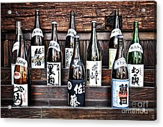 Choice Of Sake Acrylic Print by Delphimages Photo Creations