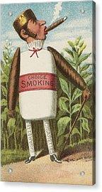 Choice Smoking Acrylic Print by Aged Pixel