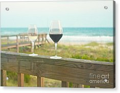 Choices At The Beach Acrylic Print by Kay Pickens